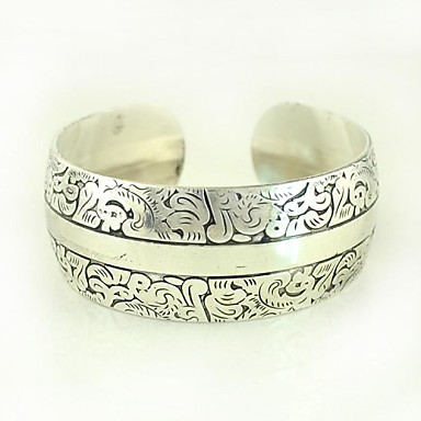 1PCS Fashion Carved Silver Bracelet N0.7