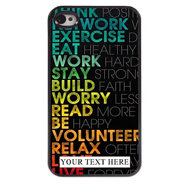 Buy Personalized Phone Case - Colorful Design Metal iPhone 4/4S