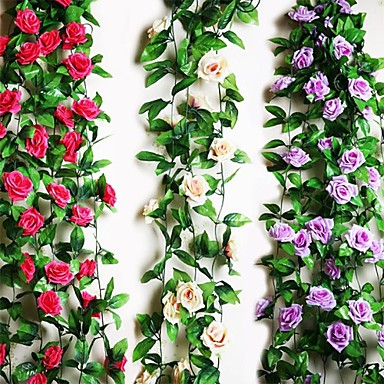 "95""L Nine Beautiful Flowers in Roses Bine 1pc"