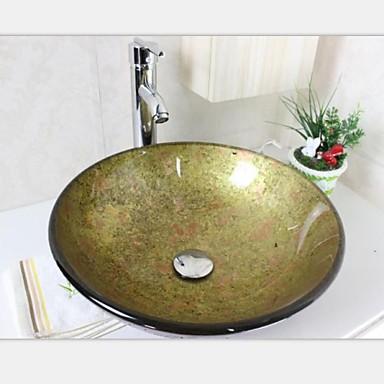 ronde bassin tremp vier r cipient en verre avec ensemble empereur du robinet de 2251806 2017. Black Bedroom Furniture Sets. Home Design Ideas