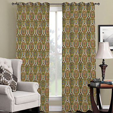 One Panel Curtain Designer Curve Living Room Polyester Material Curtains Dr