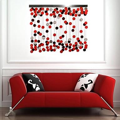 Buy E-HOME® Metal Wall Art Decor, Red Circle Decoration Decor