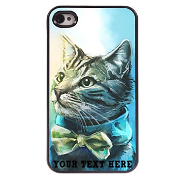 Buy Personalized Phone Case - Lovely Cat Design Metal iPhone 4/4S