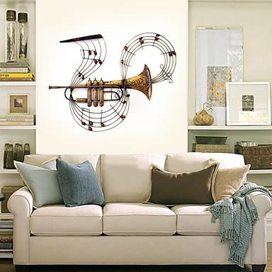 Buy E-HOME® Metal Wall Art Decor, Horn Sounded Notes Decor