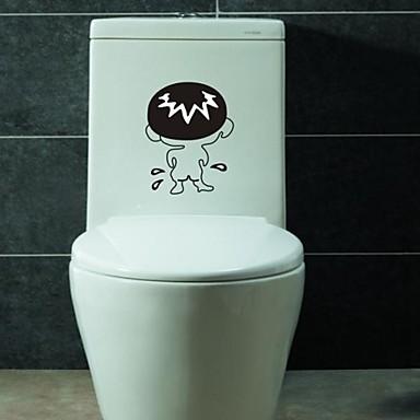 Autocollant De Bains Stickers Muraux Stickers Muraux Bande Dessin E Pvc Salle De Bains Wc