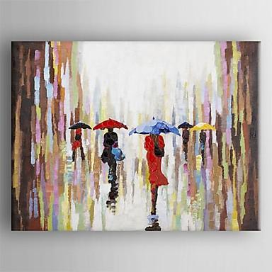 Peint la main abstrait un panneau toile peinture l for Peinture moderne sur toile