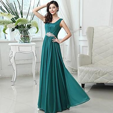 Vestido longo verde água