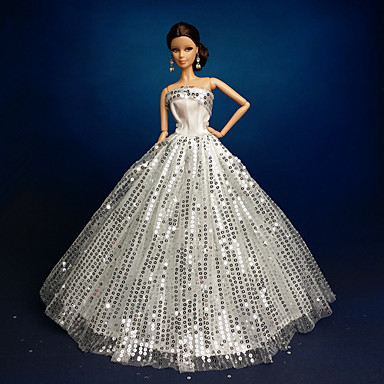 wedding dresses for barbie doll silver dresses for girl 39 s doll toy