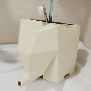 Lovely elephant bathroom toothbrush storage rack 2649762 for Elephant bathroom accessories