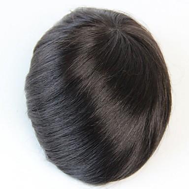 Buy 8x10 Men's Toupee Human Hair Piece Natural Black Colour #1B