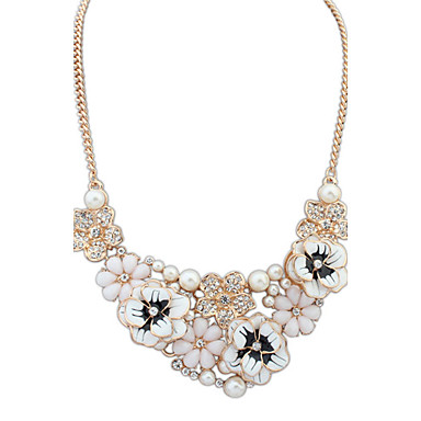 Alloy/Imitation Pearl/Resin/Rhinestone Necklace Choker Necklaces Daily 1pc