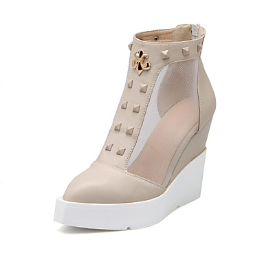 s shoes wedge heel pointed toe ankle boots dress