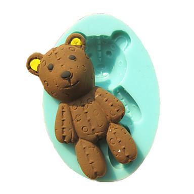 jouet ours fondant moules g teau moule de chocolat pour l 39 outil de d coration de g teau de. Black Bedroom Furniture Sets. Home Design Ideas