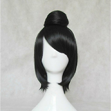 Buy Stylish Cosplay Wig Synthetic Hair Natural Wavy Black Animated Wigs Girl's Cartoon Party 014E