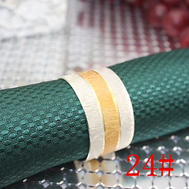 Buy 25mm Iron Middle Gold Matte Napkin Rings