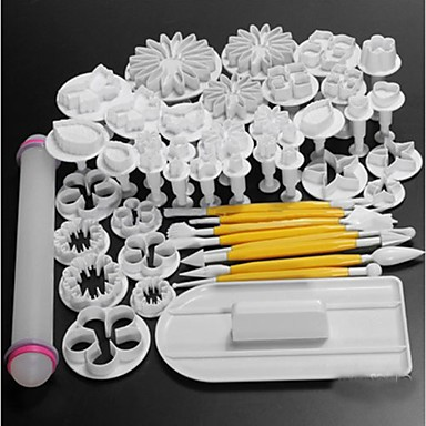 Buy 1 Set 4DIY / Cake Decorating Baking Tool Fashion Cookie Chocolate Cupcake ABS