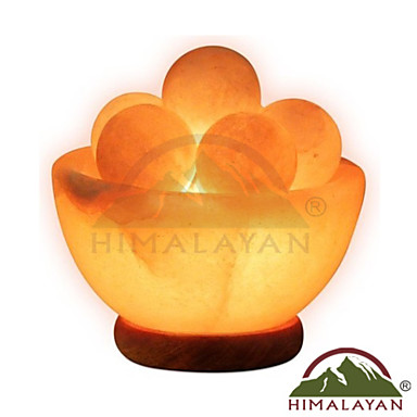 Himalayan Ionic Hand Carved Fire Bowl Lamp w/6 Massage Balls 3349856 2016 USD 125.99