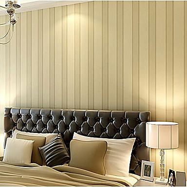 moderne tapeten streifen einfach europa entw rfe licht gelb gestreifte wandverkleidung. Black Bedroom Furniture Sets. Home Design Ideas