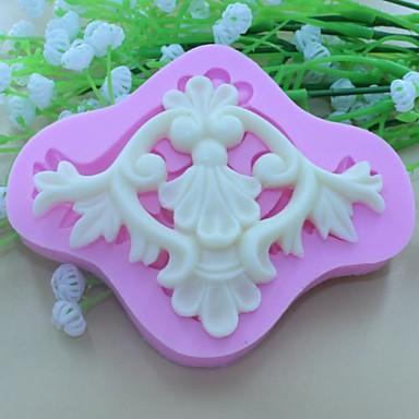European Lace pattern Shaped Fondant Cake Chocolate ...