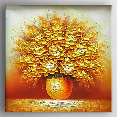 Pin peinture moderne de fleurs huile sur toile mont e sur - Peinture fleur moderne ...