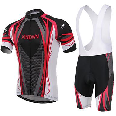 Buy XINTOWN® Cycling Jersey Bib Tights Women's / Men's Unisex Short Sleeve Breathable Wearable 3D Pad Back Pocket BikePadded