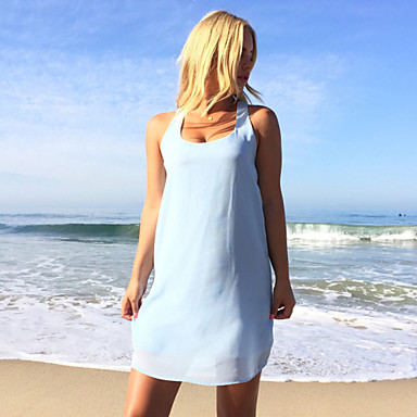 Buy Summer style 2015 New Women Sexy Casual Dresses Sleeveless O-Neck Mini Party Beach Dress Female