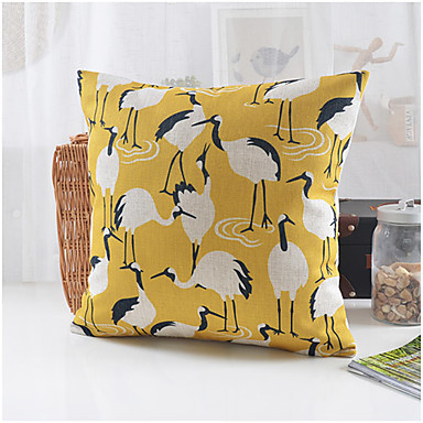 Country Style Crane Pattern Cotton/Linen Decorative Pillow Cover 3764994 2016 ? USD12.74