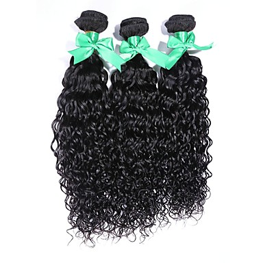 Buy Indian Virgin Hair 100% Peruvian Remy Water Wave 8 inch-30 inchHuman Extensions Natural Color