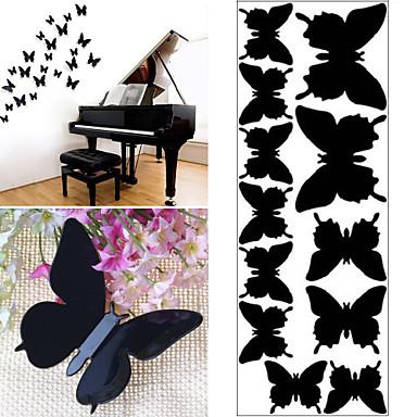 12 Pcs 3D Butterfly Plastic Wall Sticker Wall Decals