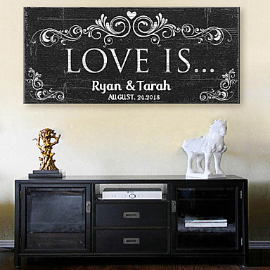 Buy E-HOME® Personalized Signature Canvas Frame- Love