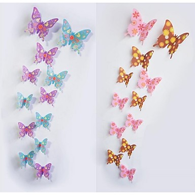 12pcs 3d butterfly wall stickers art decals 3842149 2016. Black Bedroom Furniture Sets. Home Design Ideas