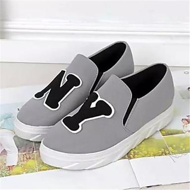 s shoes canvas fabric wedge heel toe fashion
