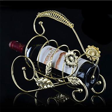 Metall vin flaskeholder rack med solsikke innredning kjøkken bar ...