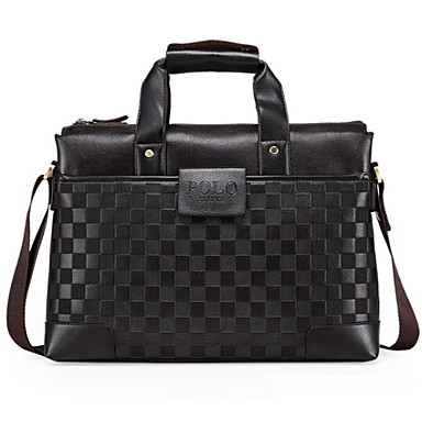 Men PU Formal / Office & Career Tote Brown / Black