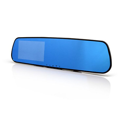 Buy Rear View Mirror Driving Recorder 1080P HD 4.3 Inch Large Screen Blue Gravity Sensor