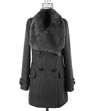 Women's Coats & Jackets , Vintage / Casual / Party / Work Pan Collar Long Sleeve Plus Size PeiNi
