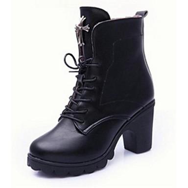 s shoes chunky heel motorcycle boots comfort