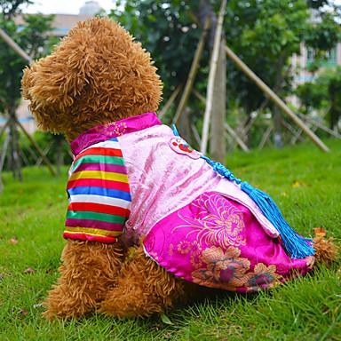 hunde kost me kleider blau rosa hundekleidung winter frucht bestickt cosplay halloween. Black Bedroom Furniture Sets. Home Design Ideas