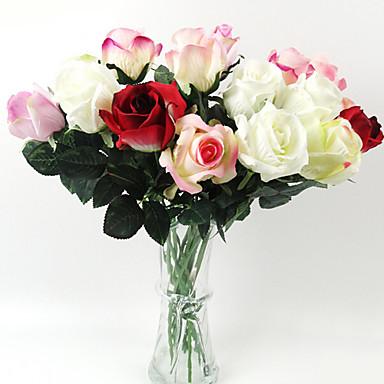 1 cabeza de capullo de rosa en tela de seda de flores - Plantas artificiales para decoracion ...