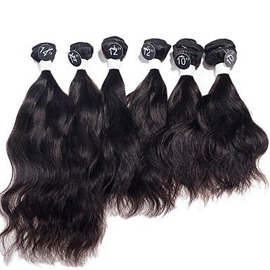 Buy Indian Natural Wave Virgin Hair Extensions Top Grade Human Weaves 2x10 inch, 2x12 2x14 inch 200g/Set