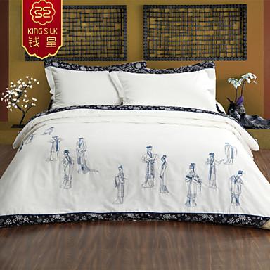 2 015 hiver chaude couverture de soie couette couette arriv e de nouveaux soie blanche broderie. Black Bedroom Furniture Sets. Home Design Ideas