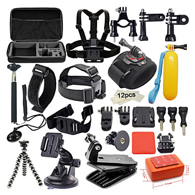 42 in 1 outdoor sports accessories kit for gopro hero 5 gopro hero 4s 4 3 3 2 1 black silver. Black Bedroom Furniture Sets. Home Design Ideas