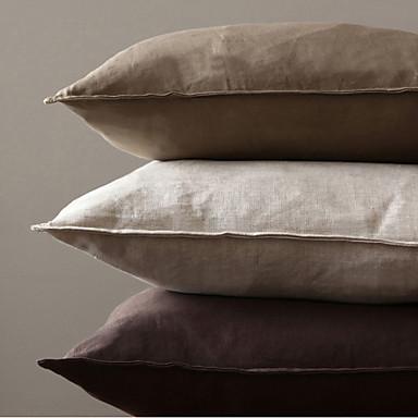 lin coussin avec rembourrage solide moderne contemporain traditionnel rustique. Black Bedroom Furniture Sets. Home Design Ideas