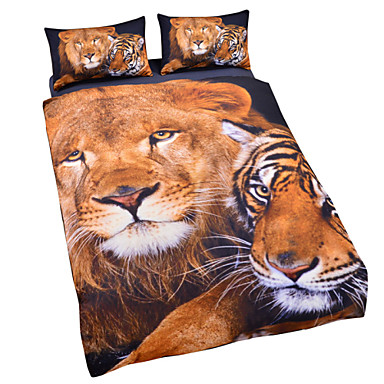 Buy Tiger Lion 3D Duvet Cover Set Bedding Twin Full Queen King