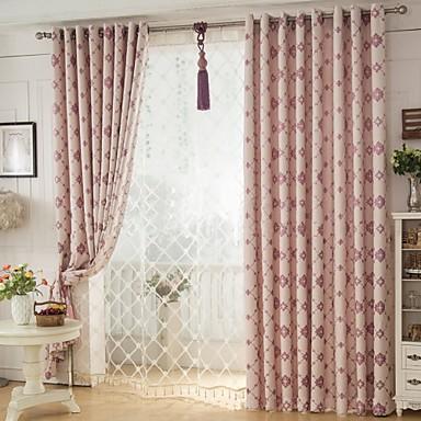 deux panneaux le traitement de fen tre rustique chambre coucher m lange lin coton mat riel. Black Bedroom Furniture Sets. Home Design Ideas