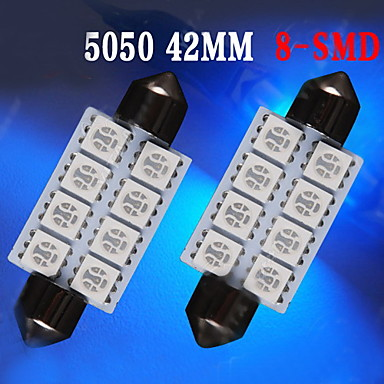 2 x ultra blue 42mm 5050 festoen koepel kaart interieur for Led verlichting interieur