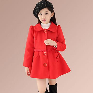 veste manteau fille de hiver automne coton rose rouge de 4418230 2016. Black Bedroom Furniture Sets. Home Design Ideas