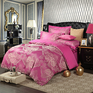 royal retro stil fuchsia jacquard bettw sche set 4 teilig 4493566 2017. Black Bedroom Furniture Sets. Home Design Ideas