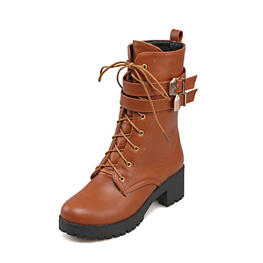 Awesome  Yellow Contrast Stitch Lace Up Side Zip Matt Brown Combat Ankle Boots