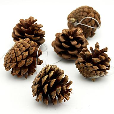 6 un paquete guirnalda decoraci n colgante de pi a de pino - Arbol de pina ...